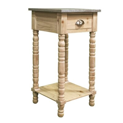 Audubon Pine Wood End Table Color: Pale Pine