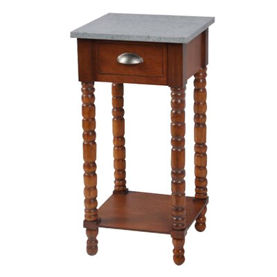 Audubon Pine Wood End Table Color: Walnut