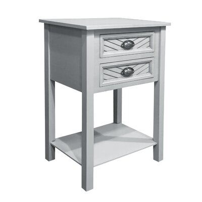 Pfeffer End Table Color: Sandy Gray