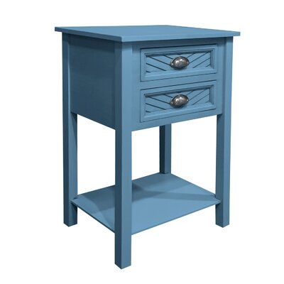 Pfeffer End Table Color: Blue Cascade