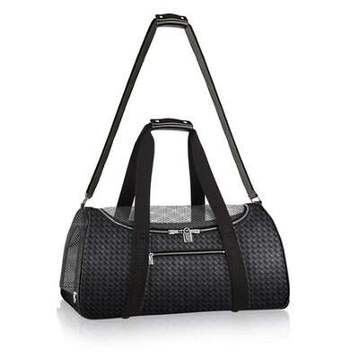 Graphite Duffle Pet Carrier Color: Black