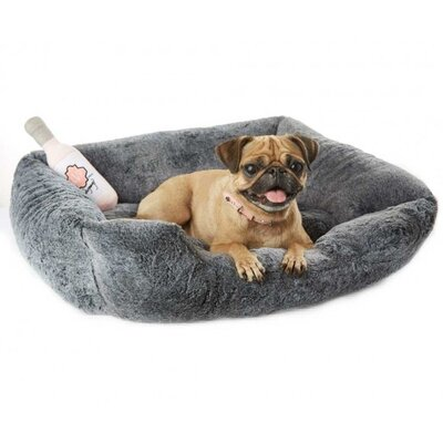 Extra Soft Plush Bolster Bed Color: Chincilla