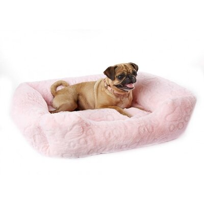 Extra Soft Plush Bolster Bed Color: Pink