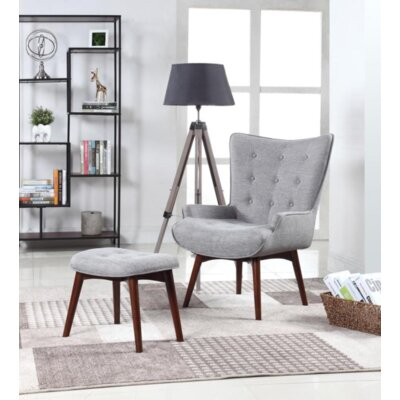 Villeda Wingback Chair and Ottoman