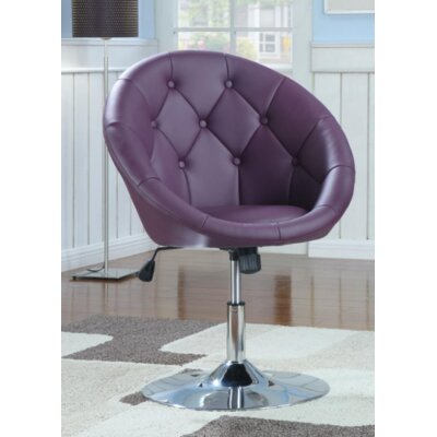 Warnell Swivel Barrel Chair Upholstery : Purple