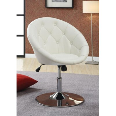 Warnell Swivel Barrel Chair Upholstery : White