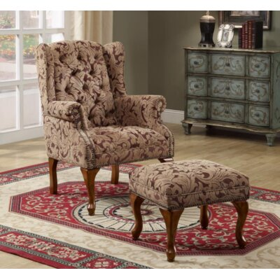 Bonniview Wingback Chair and Ottoman