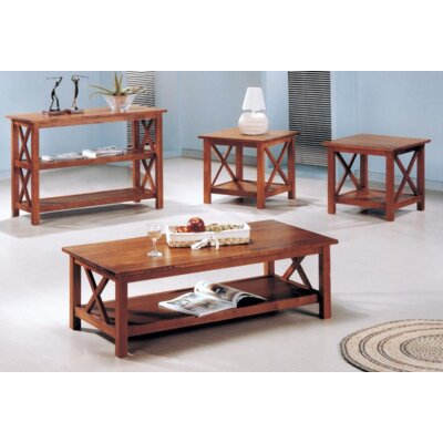 Boutwell 3 Piece Coffee Table Set Color: Brown