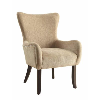 Karnes Wingback Chair Upholstery: Espresso