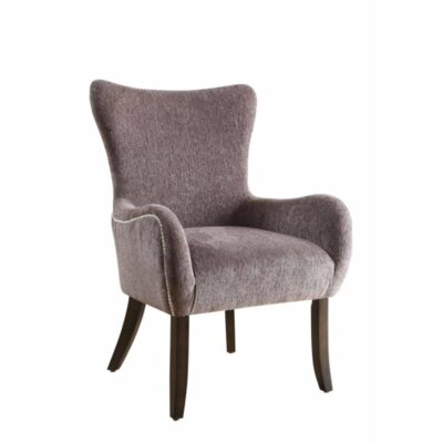 Karnes Wingback Chair Upholstery: Gray