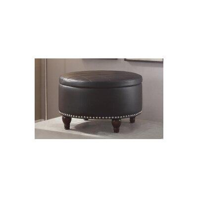 Ottavia Storage Ottoman Upholstery : Black