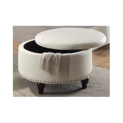 Ottavia Storage Ottoman Upholstery: White