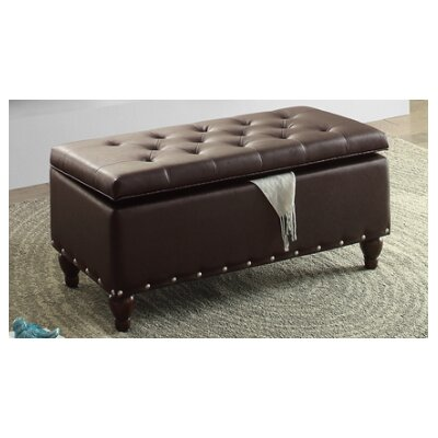 Andrei Ottoman Upholstery : Brown