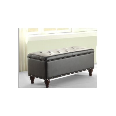 Andrei Storage Ottoman Upholstery : Black