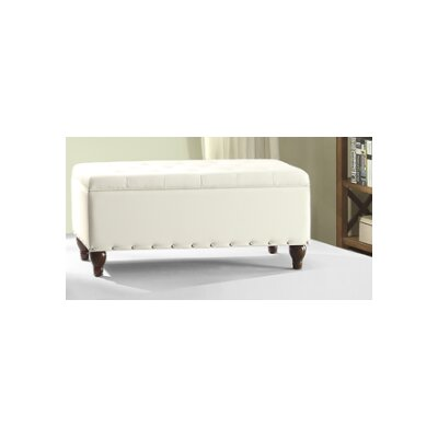 Andrei Storage Ottoman Upholstery : White