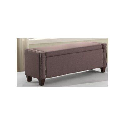 Arnow Storage Ottoman Upholstery : Chocolate