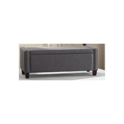 Arnow Storage Ottoman Upholstery : Blue Gray
