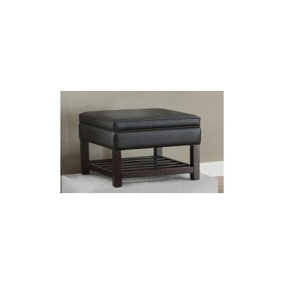 Toler Ottoman Upholstery : Black