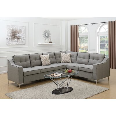 Sebrina Sectional Upholstery : Light Gray