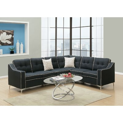 Sebrina Sectional Upholstery : Black