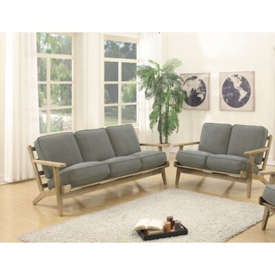 Arquette 2 Piece Living Room Set Upholstery : Gray