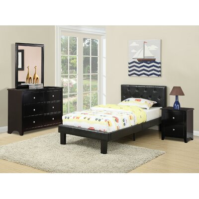 Taylor Cove Platform Bed Size: Twin, Bed Frame Color: Black