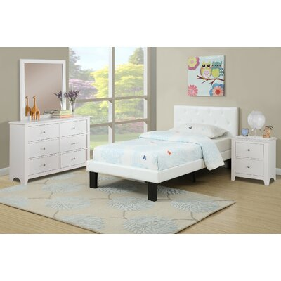Taylor Cove Platform Bed Size: Twin, Bed Frame Color: White
