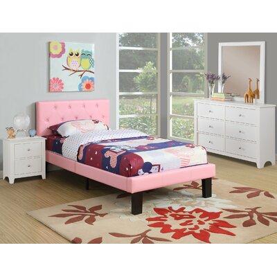 Taylor Cove Platform Bed Size: Twin, Bed Frame Color: Pink