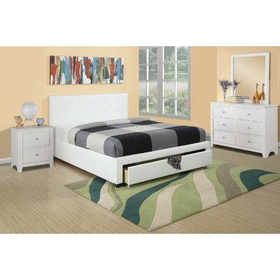 Copenhaver Upholstered Storage Platform Bed Size: Full, Bed Frame Color: White