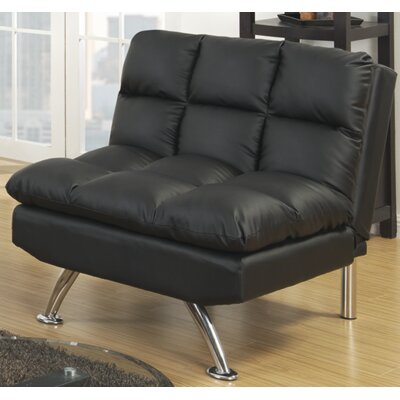 Rohde Convertible Chair Upholstery : Black