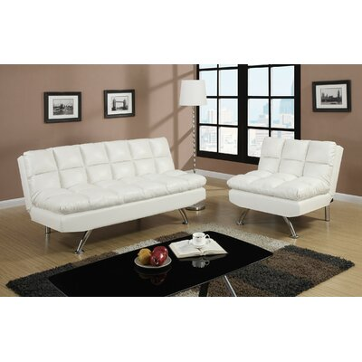 Rohde 2 Piece Living Room Set Upholstery : White