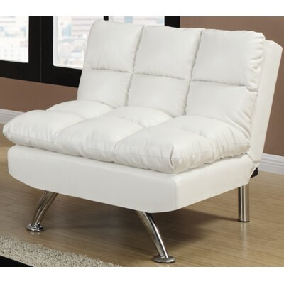 Rohde Convertible Chair Upholstery : White