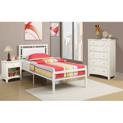 Hawkes Platform Bed Size: Full, Bed Frame Color: White