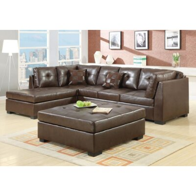 Gammoh 2 Piece Living Room Set Upholstery: Brown