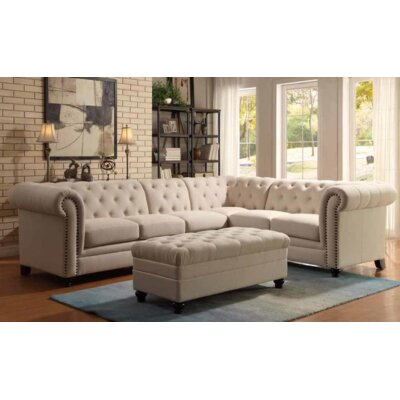 Claudelle Sectional Upholstery: Oatmeal