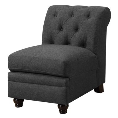 Claudelle Slipper Chair Upholstery: Black