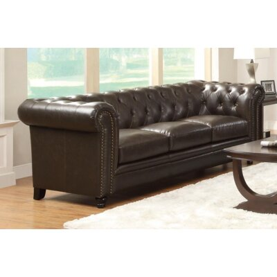 Desid�ria Chesterfield Sofa Upholstery: Brown