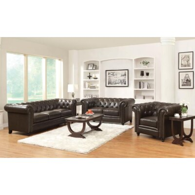 Desid�ria 3 Piece Living Room Set Upholstery: Brown