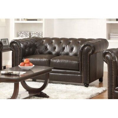 Desid�ria Loveseat Upholstery: Brown