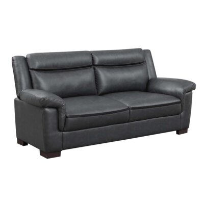Robeson 3 Piece Living Room Set Upholstery: Black