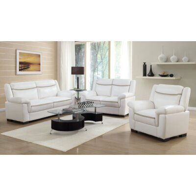 Robeson 3 Piece Living Room Set Upholstery: Beige