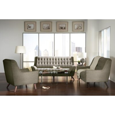 Britney 3 Piece Living Room Set Upholstery: Gray