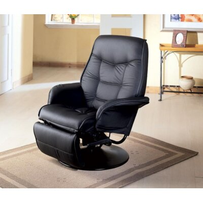 Roden Swivel Recliner Upholstery: Black
