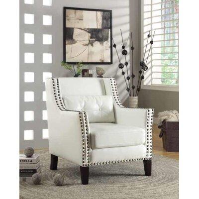 Kinkade Armchair Upholstery: White