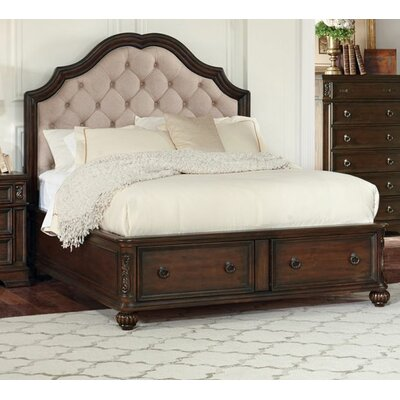 Leffel Storage Panel Bed Color: Antique Java, Size: King