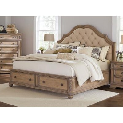 Leffel Storage Panel Bed Color: Antique Linen, Size: Queen