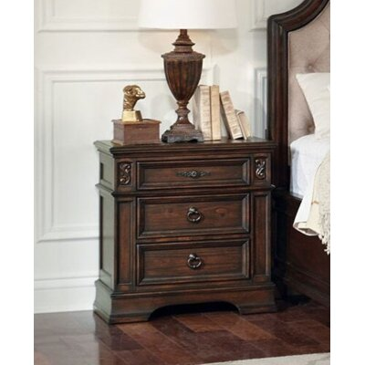 Leffel 3 Drawer Nightstand Color: Antique Java