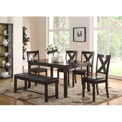 Grigori 6 Piece Dining Set Color: Espresso