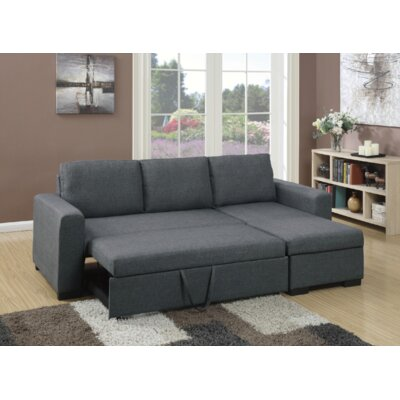 Venters Convertible Sleeper Sectional Upholstery: Blue Gray