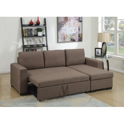 Venters Convertible Sleeper Sectional Upholstery: Light Coffee